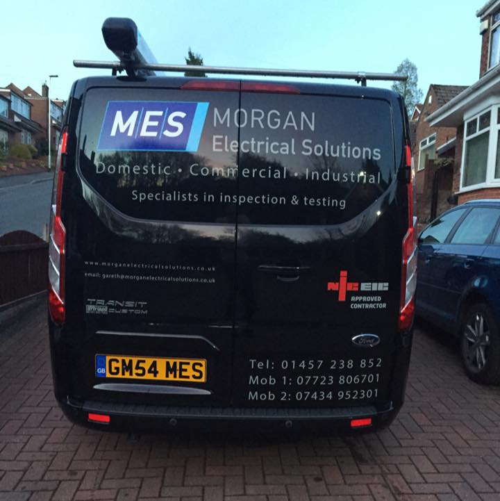 Electrician in Mossley Manchester Work Van